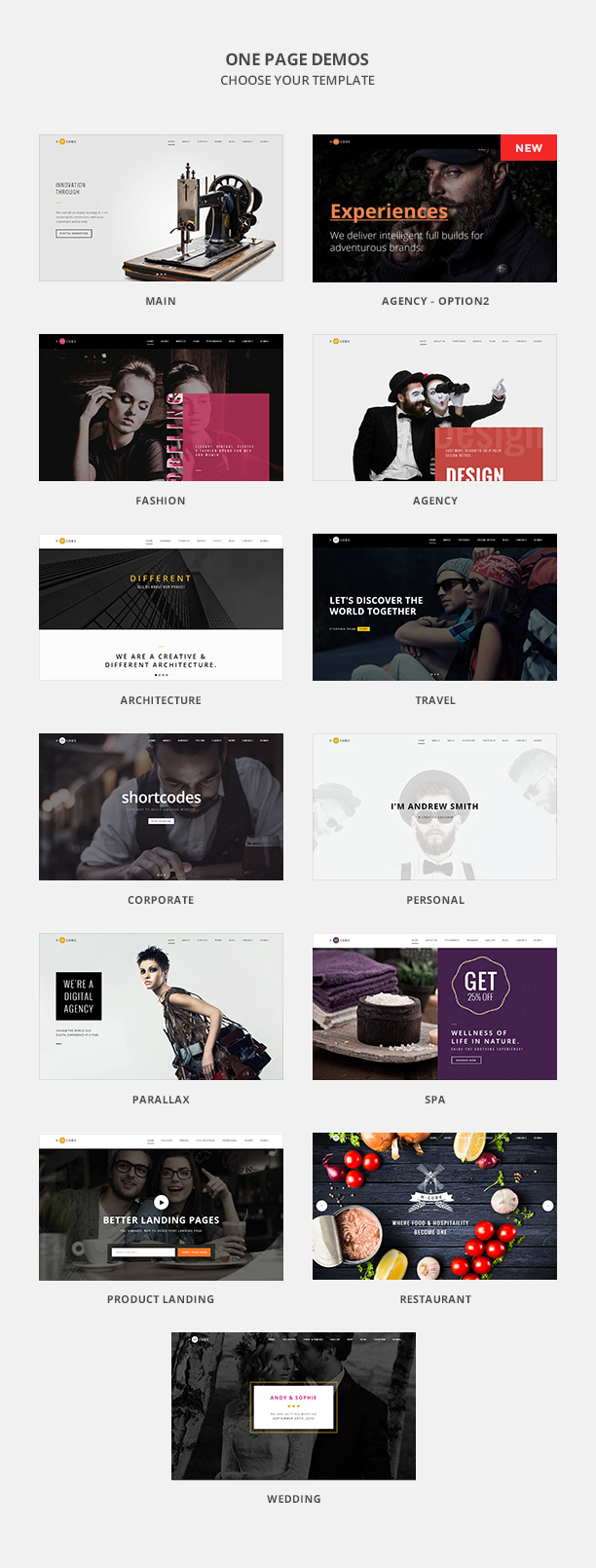 H-Code | Multi-Purpose One/Multi Page Template